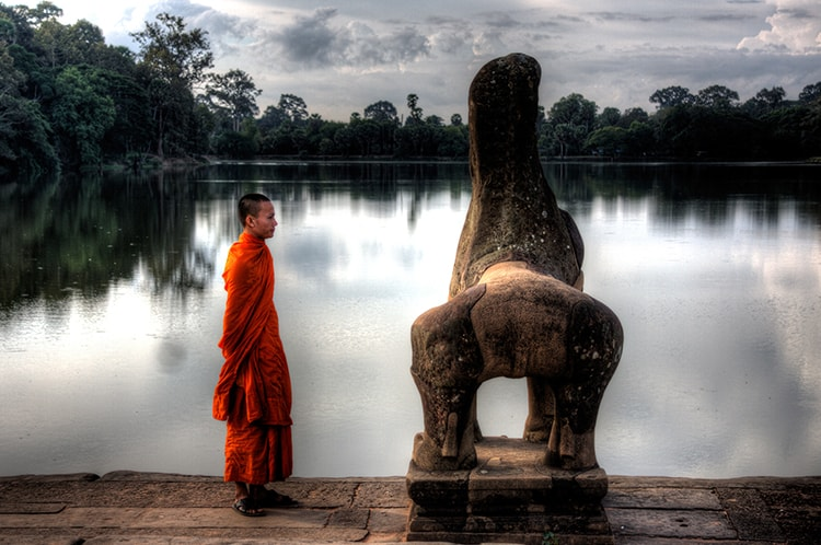 Monk at Angkor Thom