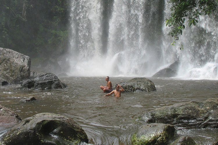 Swimming in the Watefall